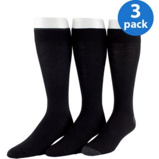 George Men's Cotton Flat Knit Socks 3 Pack