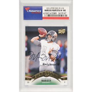 Marcus Mariota Oregon Ducks  Authentic Autographed 2015 Upper Deck Star Rookie #55 Card with Heisman 14 Inscription
