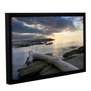 ArtWall Dan Wilsons Lake Erie Sunset II Gallery Wrapped Floater