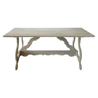 Maaya Home Isabella Dining Table   Weathered Gray Wash