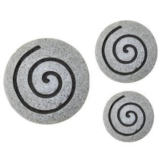 Set of 2 Sandstone Circle Design Wall Art (China)   15844365
