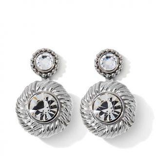 Emma Skye Jewelry Designs 2 in 1 Crystal Rope Stainless Steel Earrings   7787391