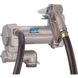 FREE SHIPPING —GPI Fuel Transfer Pump with Manual Nozzle — 12V DC, 25 GPM, Model# ML-3025CB-ML  AC Powered Fuel Pumps