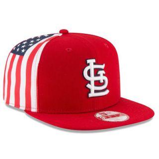 St. Louis Cardinals New Era Flag Side Original Fit 9FIFTY Snapback Adjustable Hat   Red