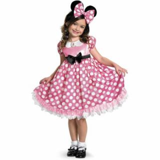 Disney Mickey Mouse Clubhouse Pink Minnie Mouse Glow in the Dark Toddler Halloween Costume, Size 3T 4T
