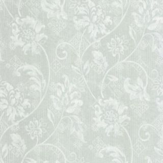 The Wallpaper Company 56 sq. ft. Blue Romantic Floral Trail Wallpaper DISCONTINUED WC1282651