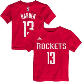 James Harden Houston Rockets adidas Toddler Name & Number T Shirt – Red