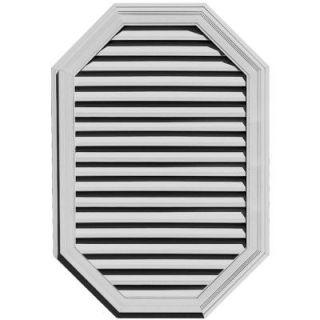 Builders Edge 32 in. x 47 in. Elongated Octagon Gable Vent #030 Paintable 120113247030