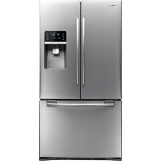 Samsung Clearance 28.5 Cu. Ft. French Door Refrigerator with Thru the Door Ice and Water Stainless/Stainless look RFG297HDRS