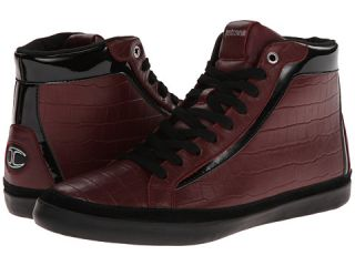 Just Cavalli Crocodile Print And Patent Leather Hi Top Sneaker