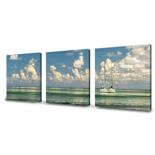 Ready2hangart Two Boats by Bruce Bain 3 Piece Photographic Printt on