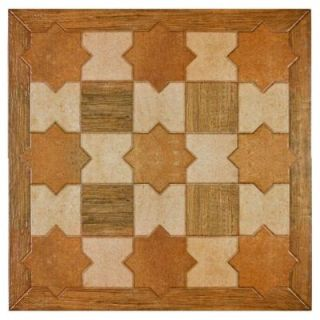 Merola Tile Andulas Cotto 17 3/4 in. x 17 3/4 in. Porcelain Floor and Wall Tile (15.62 sq. ft./case) FAR18ANC