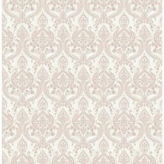 A Street 56 sq. ft. Waverly Mauve Petite Damask Wallpaper 1014 001820