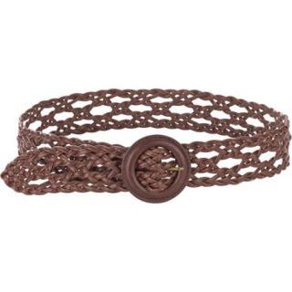 Women's Brown Braid Belt