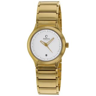 Obaku Womens Harmony Goldtone Bracelet Watch   16438819