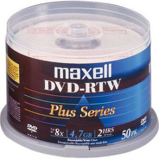 Maxell DVD RTW 4.7GB Thermal/Hub Printable 8x Disc (50) 635079