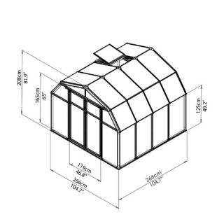 Rion Greenhouses Hobby Gardener 2 Twin Wall 8.5 Ft. W x 8.5 Ft. D