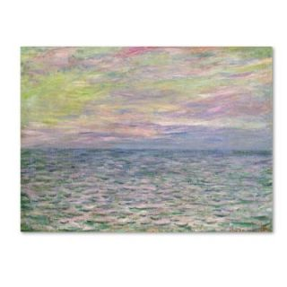 "Trademark Fine Art 35 in. x 47 in. ""Coucher De Soleil a Pourville"" Canvas Art BL01379 C3547GG"