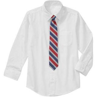 George Husky Boys' 2 Piece Dress Shirt and Tie Set