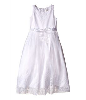 Us Angels Embroidered Organza & Satin Sleeveless Lace Dress (Little Kids/Big Kids)