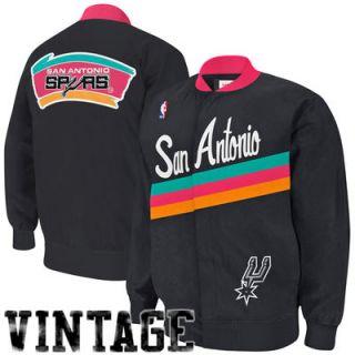 Mitchell & Ness San Antonio Spurs Authentic Vintage Warm Up Jacket   Black