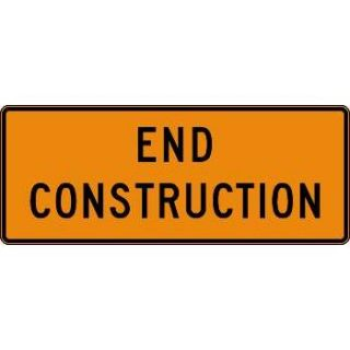 """End Construction"" Traffic Advisory Sign"