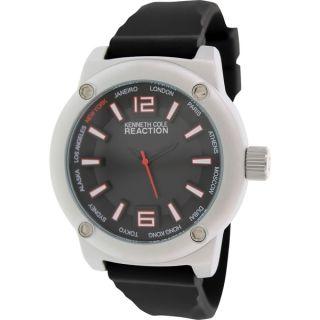 Kenneth Cole Reaction Mens RK1381 Black Silicone Analog Quartz Watch