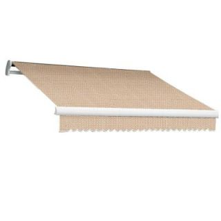 Beauty Mark 18 ft. MAUI EX Model Right Motor Retractable Awning (120 in. Projection) in Linen Pin Stripe MTR18 EX LPIN