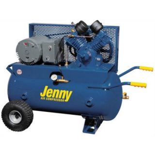 Jenny Products Inc 30 Gallon 5 HP Electric Motor 230 Volt Two Stage Wheeled Portable Air Compressor