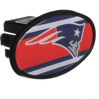 New England Patriots Stripe Oval Fixed 2 Hitch Cover