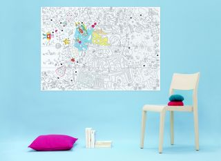Play Poster   / Giant   L 115 x 80 cm Black, White by OMY Design & Play