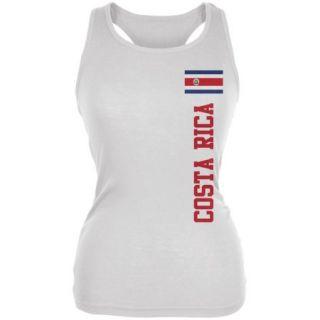 World Cup Costa Rica White Juniors Soft Tank Top