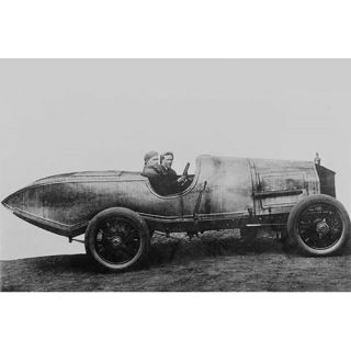 Buyenlarge Space Age Car with Fins in Design Far Ahead Photographic