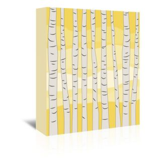 Yellow Birch Trees Graphic Art on Wrapped Canvas by Americanflat