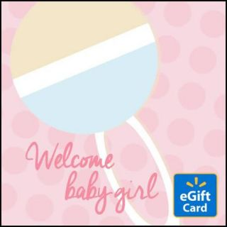 Welcome Baby Girl  eGift Card