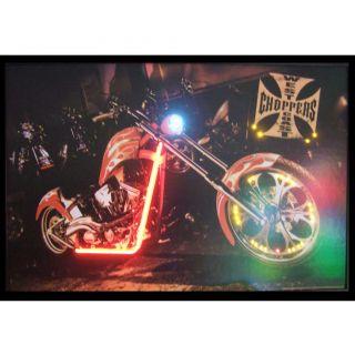 Neonetics Cars & Motorcycles West Coast Choppers Bike Neon LED Framed
