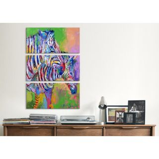 iCanvas Richard Wallich Zebra 3 Piece on Wrapped Canvas Set