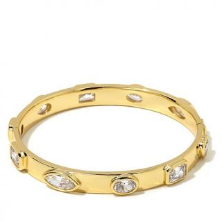 """Jewels by Jen """"Even Faux Diamonds Are Forever"""" CZ Pavé Pyramid Stud Bang   8064408"""