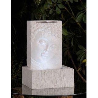Jeco Polyresin and Fiberglass Buddha Fountain