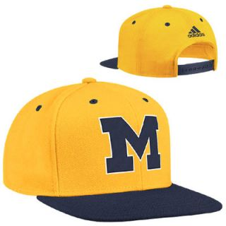 adidas Michigan Wolverines March Madness Snapback Hat   Maize