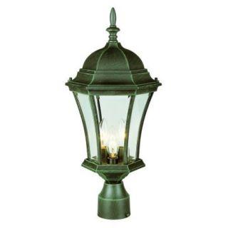 Trans Globe Lighting 4504 Three Light Up Lighting Outdoor Post Light from the Ou