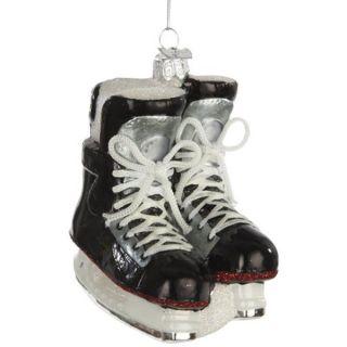 Ice Hockey Skates Glass Christmas Tree Ornament   Shopping