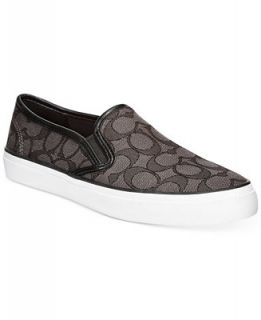 COACH Chrissy Slip On Logo Sneakers   Shoes