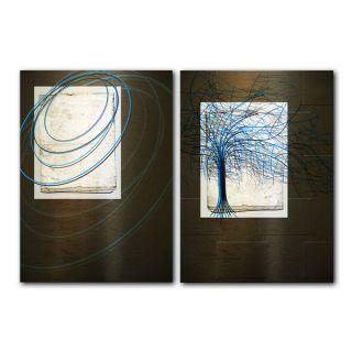 Alexis Bueno Abstract Spa Canvas Art (Set of 2)   Shopping