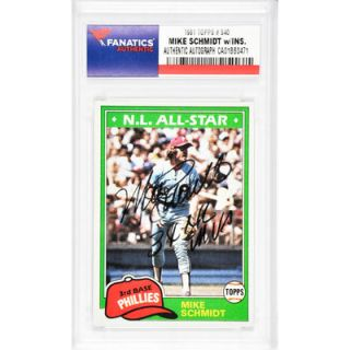 Mike Schmidt Philadelphia Phillies  Authentic Autographed 1981 Topps #540 Card with 3 X NL MVP Inscription