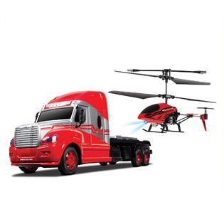 World Tech Toys 3.5ch Mega Hauler Helicopter & Truck Combo   Toys