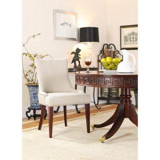 Safavieh En Vogue Dining Becca Beige Linen Side Chair   12059801