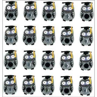 Jolees Boutique Dimensional Stickers, Graduation Owl Multi Colored