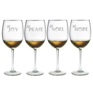Joy Peace Noel Hope Wine Glass by Susquehanna Glass