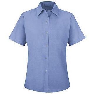 Red Kap Womens Specialized Pocketless Work Shirt SS x 3XL, Light blue